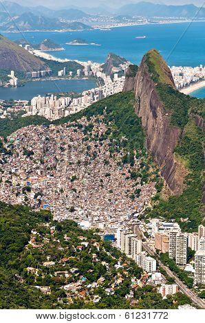 Rocinha Slum in Rio de Janeiro