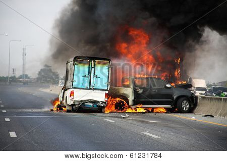 Explosive Car Crash