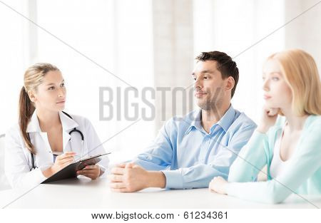 bright picture of doctor with patients in cabinet