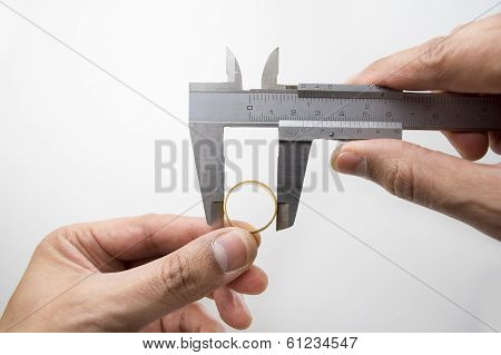 Measuring Ring With Vernier Caliper