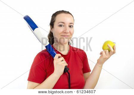 Sportswoman Dietician Showing Healthy Lifestyle