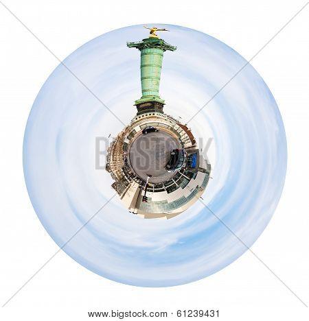 Place De La Bastille And July Column In Paris