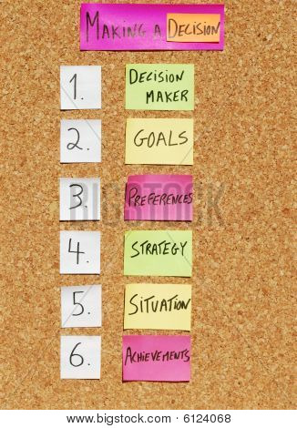 Cómo hacer un concepto de decisión