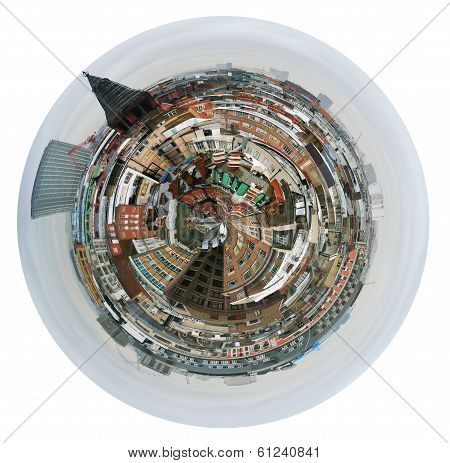 Spherical View Of London Houses