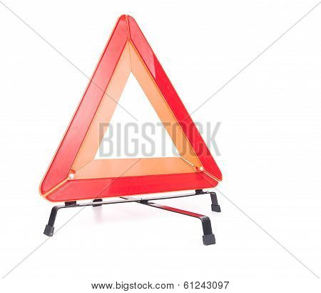 Car emergency sign isolated on white background