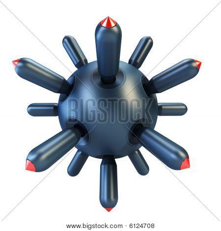 Anti-submarine Bomb 3D Rendering