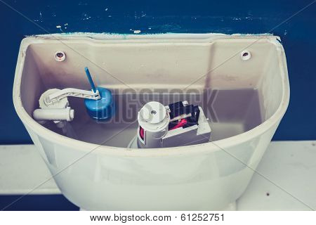 Open Cistern Of Toilet