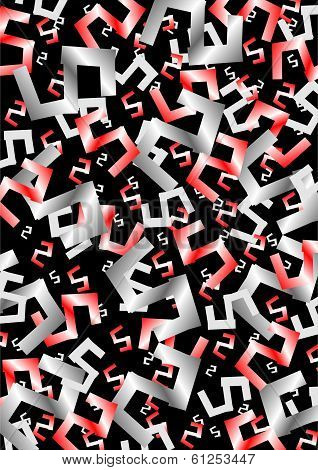 Abstract Numerals On Black Background