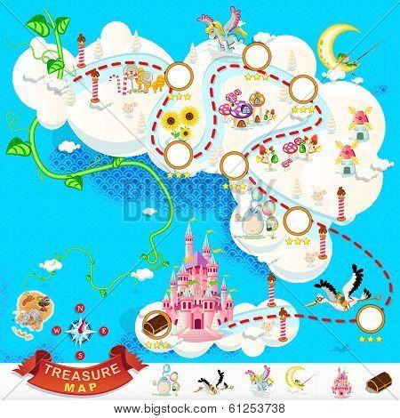 Pirate Treasure Map Sky Castle