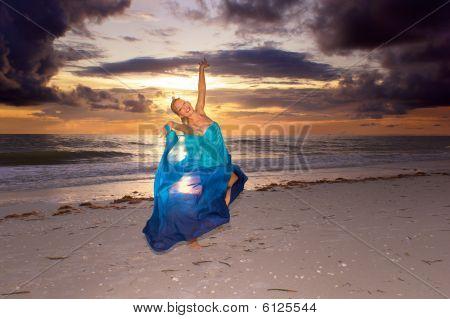 Joyous Dance On Beach