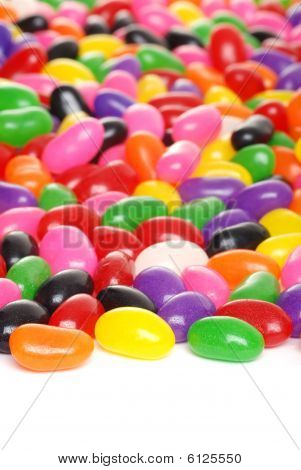 Colorful Jelly Beans Isolated