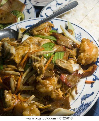 Ten Ingredient Pan Fried Noodles