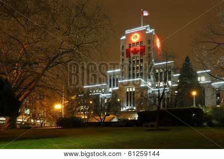 Vancouver City Hall Night