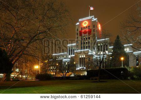Vancouver City Hall Night