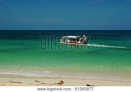 Boat at Playa Blanca, Colombia