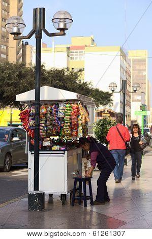 Street Vendor in Lima, Peru