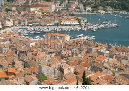 Aerial View Of Rovinj