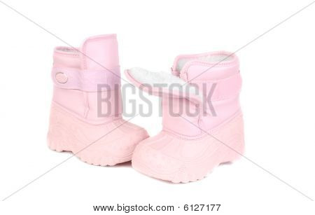 Pink Children Snow Boots.