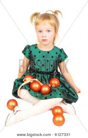 Unhappy Christmas Girl.