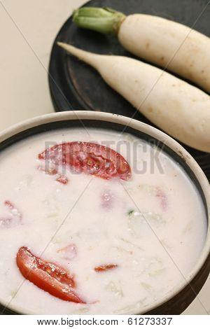 Mooli ka raita is a yogurt salad from kashmir