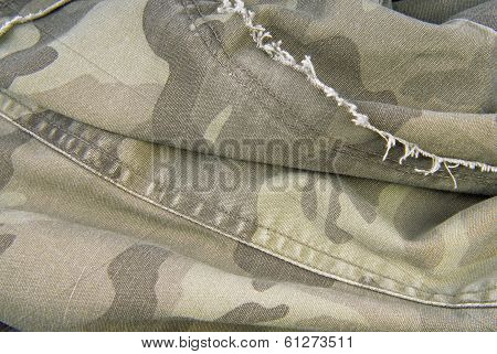 camouflage cloth texture crumpled