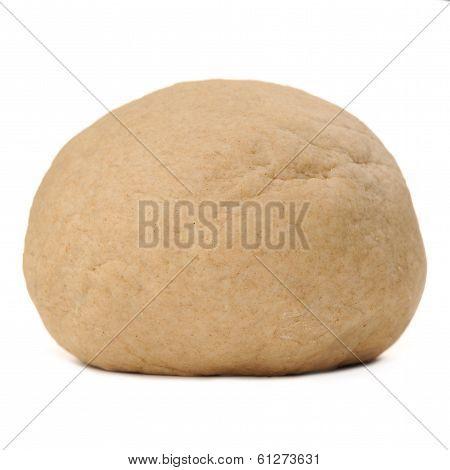 Whole Wheat Yeast Dough Isolated On White Background
