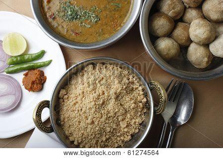 Churma - ground wheat dish from India