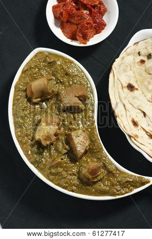 Saag Mutton it is a north Indian dish