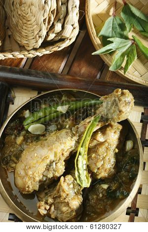 Gongura chicken - A spicy chicken curry from India