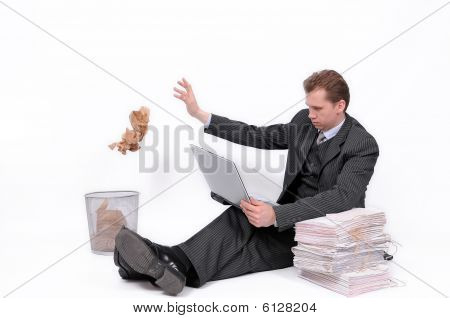 Working businessman
