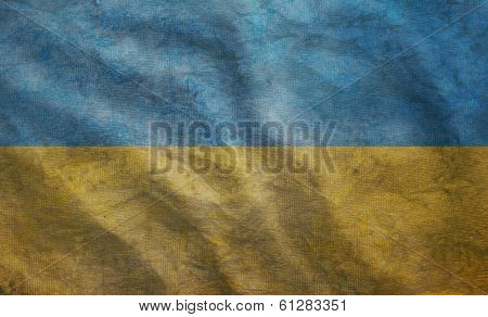 Grunge Rugged Ukrainian Flag