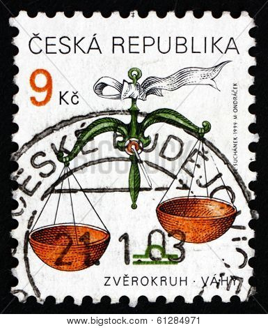 Postage Stamp Czechoslovakia 1999 Libra, Sign Of The Zodiac