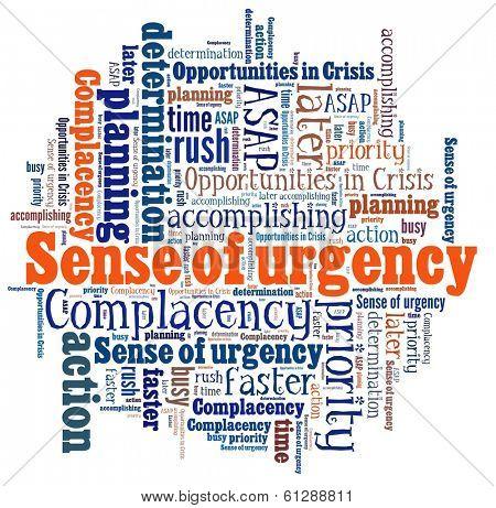 Sense of Urgency in word collage
