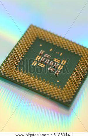 CPU processor computer microchip