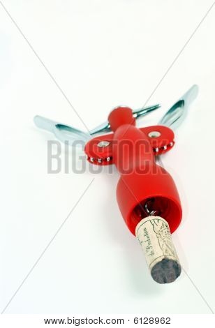 Red Corkscrew And Cork