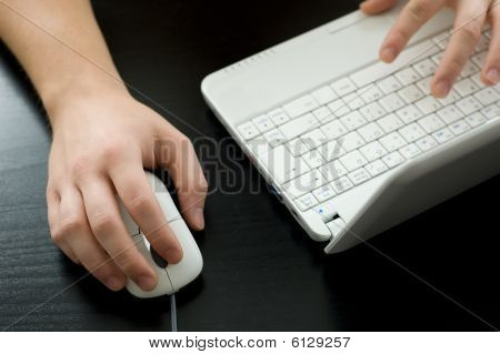 Using a laptop