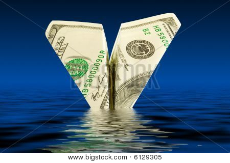 Money Plane In Water