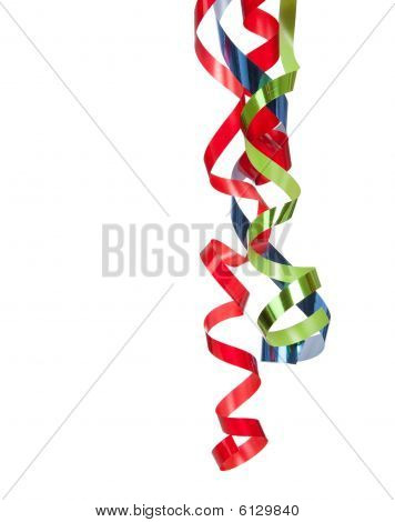 Curly Ribbon On A White Background