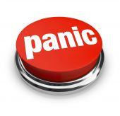image of panic  - A red button with the word Panic on it - JPG
