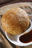 pic of urad  - Kachori or Kachauri is usually a round flattened ball made of fine flour filled with a stuffing of baked mixture of yellow moong dal or Urad Dal the crushed and washed horse beans besan the crushed and washed gram flour black pepper red chili powder salt - JPG