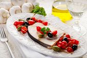 image of swordfish  - swordfish with tomatoes capers and olive - JPG