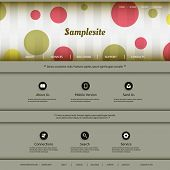 Website Template with Colorful Dotted Header Design