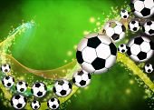 picture of flat-foot  - Abstract soccer or football background with empty space - JPG
