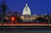 Washington DC - Capitol building at night