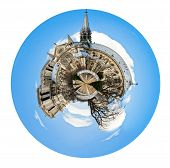 Spherical View Of Cathedral Notre Dame De Paris
