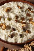 picture of ghee  - Top view of Zafrani kheer  - JPG