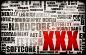 stock photo of x-rated  - XXX Porn Sex Industry Concept Grunge Background - JPG