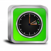 image of daylight saving time  - decorative green daylight saving time button 3d - JPG