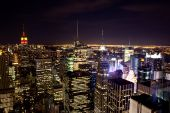 stock photo of rockefeller  - New York from the top of Rockefeller Center - JPG