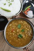 picture of tadka  - Mixed dal made of boiled lentils cooked with fresh Indian spices and vegetables - JPG